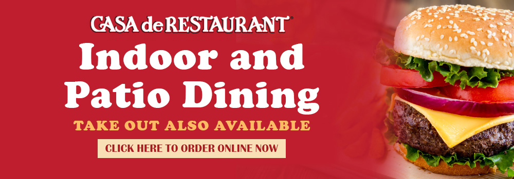 Restaurant has indoor and outdoor dining available. Click the link to place you order online