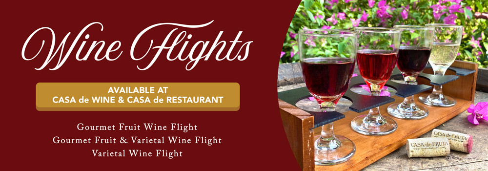 Wine Flights now available at Casa de Wine